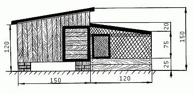 Схема зимнего курятника